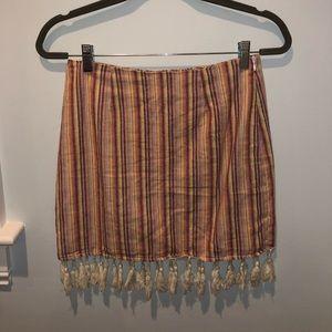 Tassel Striped Skirt